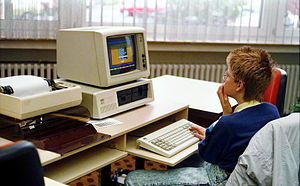 A computer from the 1980s when I avoided presentations